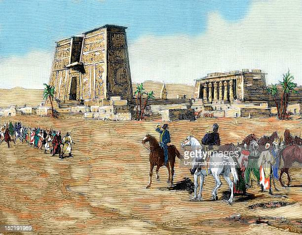War in Egypt The emissaries of Arabi Pasha recruiting soldiers among the tribes to fight against the British In the background Temple of Horus at...