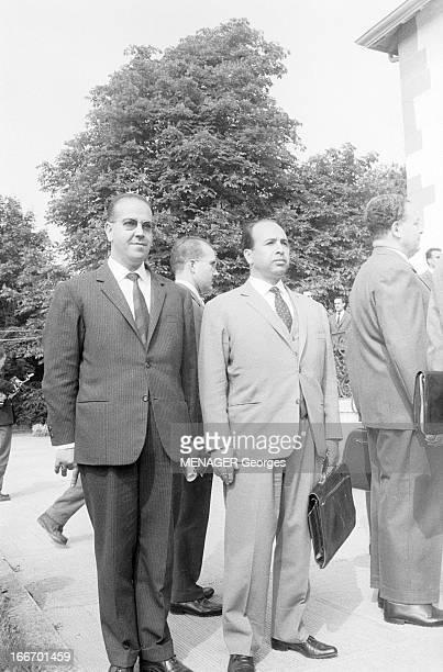 Evian Conference Of Fln On May 24 1961 France 1961 24 mai à Evian rencontre entre des représentants du FLN algérien des membres du GPRA et une...