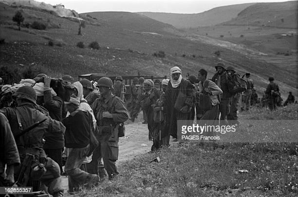 French Forces Operations In Aures Algérie Mai 1956 opérations des forces françaises dans les montagnes de NEMENTCHA et dans les AURES Des militaires...
