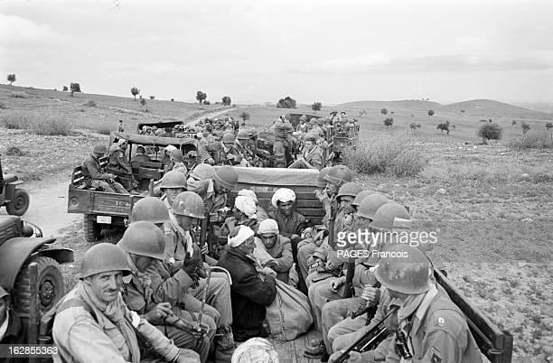 French Forces Operations In Aures Algérie Mai 1956 opérations des forces françaises dans les montagnes de NEMENTCHA et dans les AURES Un convoi de...