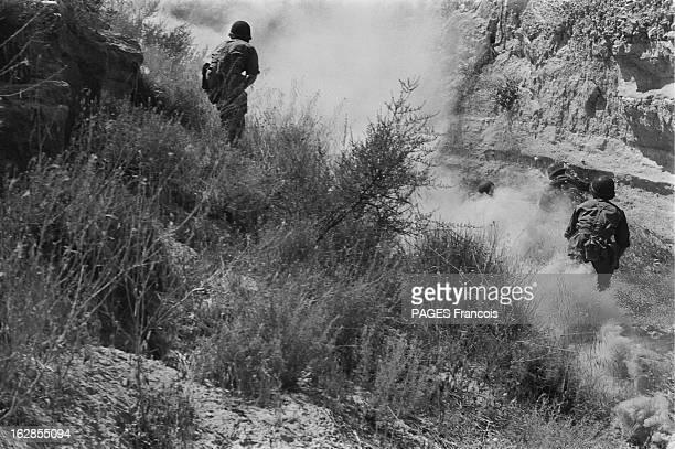 French Forces Operations In Aures Algérie Mai 1956 les paras dans le djebel appelé 'la cervelle du veau' les militaires dans le lit d'un oued tirent...