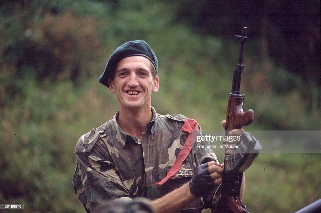 War of BosniaHerzegovina Bosnian soldier Dobosnica September 1992
