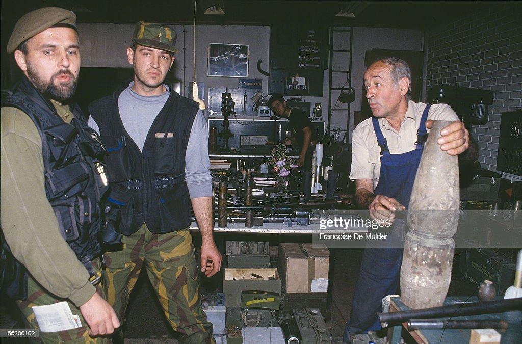 War of BosniaHerzegovina Clandestine arms factory in Sarajevo September 1992