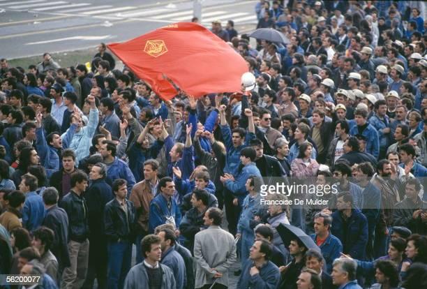 War of BosniaHerzegovina Demonstration in Sarajevo April 1992