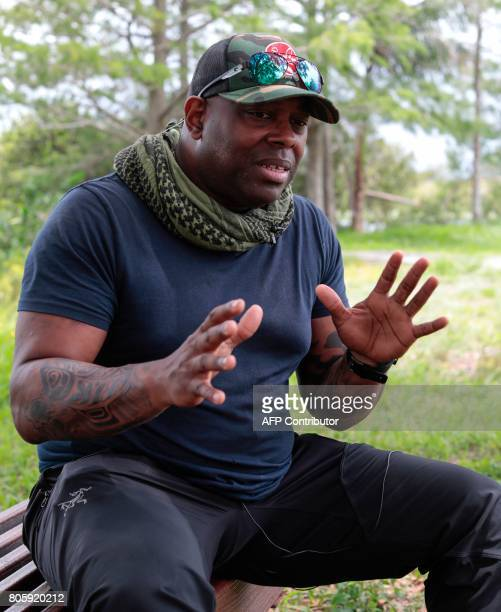 War veteran Chad Brown speaks during an interview with AFP at the Arthur R Marshall Loxahatchee National Wildlife Refugee in Boynton Beach Florida on...