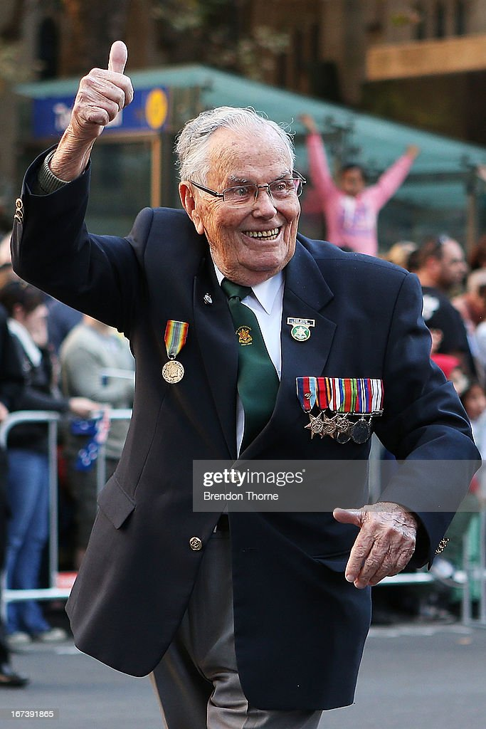 A war veteran makes his way down George Street during the ANZAC Day parade on April 25, 2013 in Sydney, Australia. Veterans, dignitaries and members of the public today marked the 98th anniversary of ANZAC (Australia New Zealand Army Corps) Day, April 25, 1915 when allied First World War forces landed on the Gallipoli Peninsula. A public holiday in both Australia and New Zealand, commemoration events are held across both countries in remembrance of those who fought and died in all wars.
