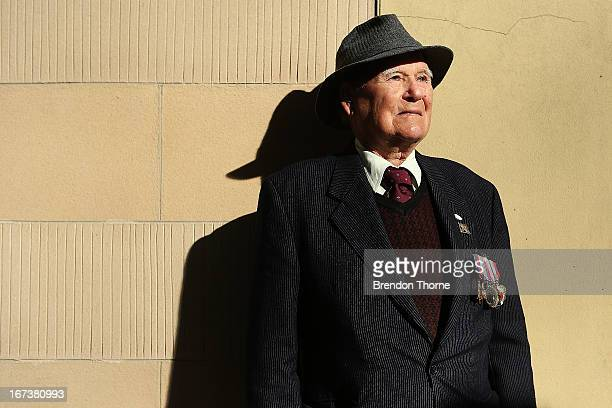 A war veteran poses prior to the ANZAC Day parade on April 25 2013 in Sydney Australia Veterans dignitaries and members of the public today marked...
