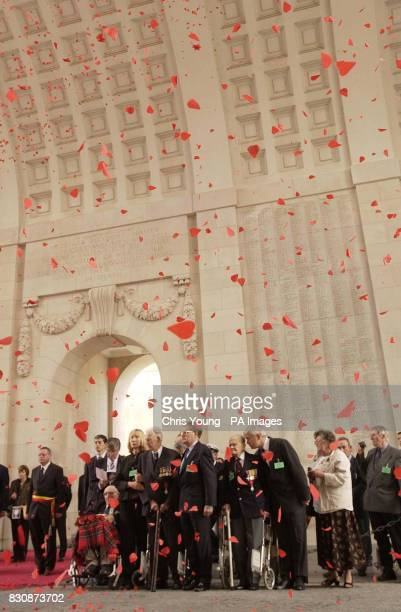 War veterans and dignitaries participate in the ceremony at The Menin Gate in Ypres Belgium to mark its 75th anniversary The Gate was built in 1927...