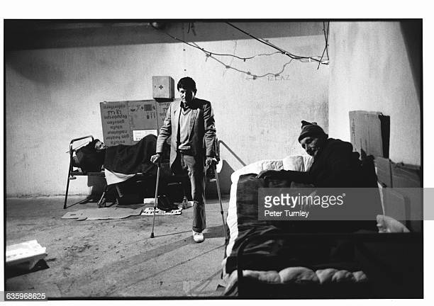 War victims one with only one leg rest in a makeshift shelter After the fall of Communism in 198990 Yugoslavia broke into Croatia Bosnia and Serbia...