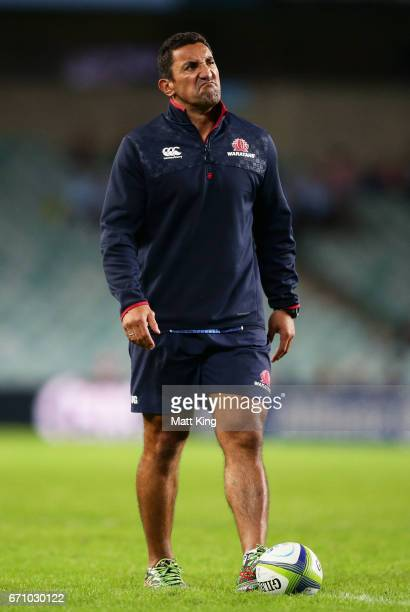 Waratahs head coach Daryl Gibson looks on before the round nine Super Rugby match between the Waratahs and the Kings at Allianz Stadium on April 21...