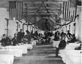 A ward in Campbell Hospital Washington DC during the American Civil War Washington DC USA circa 1861