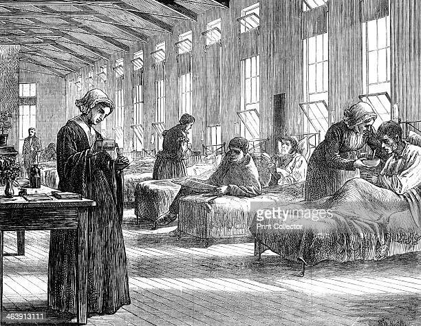 Ward in the Hampstead Smallpox Hospital 1871 This was under the management of the Metropolitan Asylums Board and was built to meet the needs of the...
