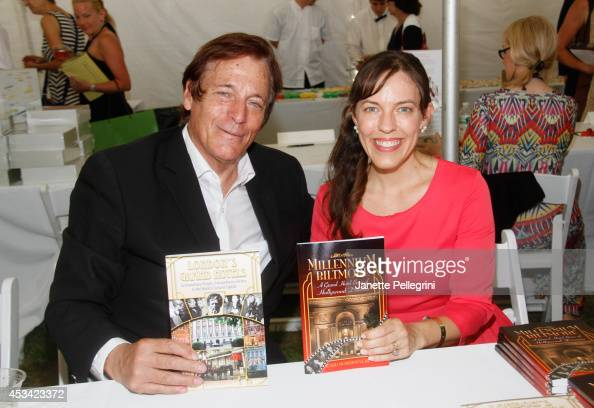 Ward Morehouse and Katherine Boynton attend East Hampton Library's Authors Night 2014 on August 9 2014 in East Hampton New York