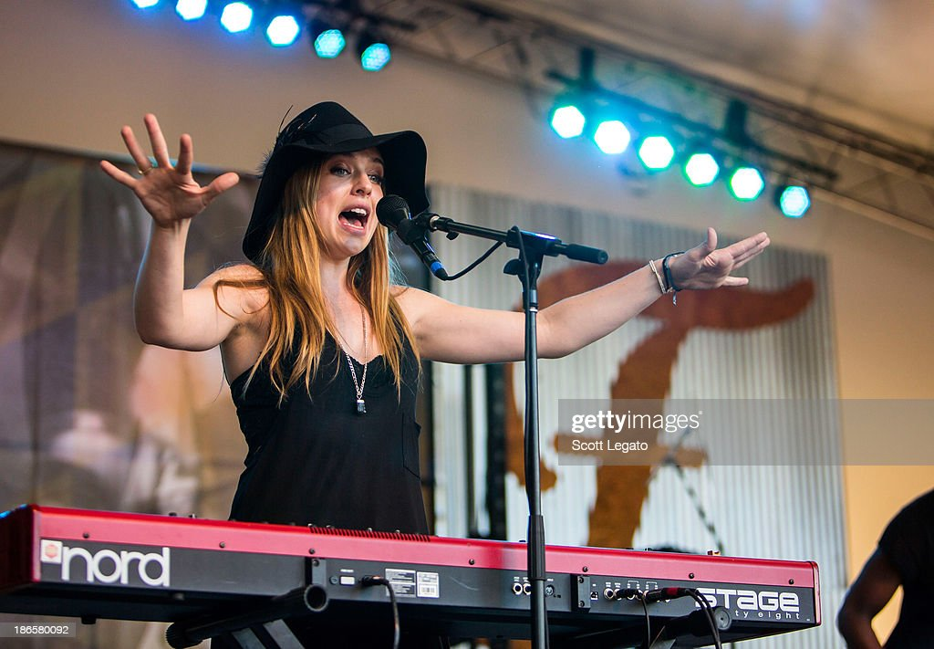 <a gi-track='captionPersonalityLinkClicked' href=/galleries/search?phrase=ZZ+Ward&family=editorial&specificpeople=7800265 ng-click='$event.stopPropagation()'>ZZ Ward</a> perfoms at the 2013 Voodoo Music + Arts Experience at City Park on November 1, 2013 in New Orleans, Louisiana.