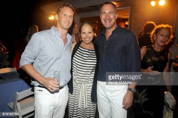 Ward Simmons Katie Couric and Edward Menicheschi attend THE CINEMA SOCIETY with VANITY FAIR HUGO BOSS host the after party for 'DINNER FOR SCHMUCKS'...
