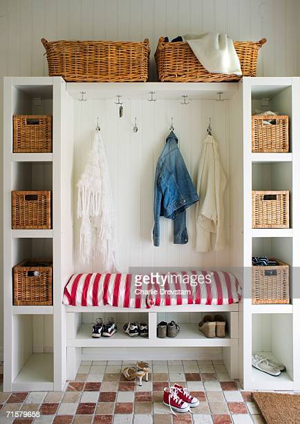 A wardrobe in a hall.