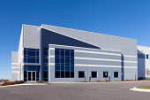 Warehouse Building with a blue sky