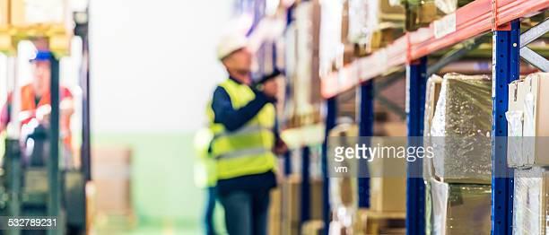 Warehouse Mitarbeiter, die Checkliste