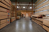 Warehouse filled with plywood