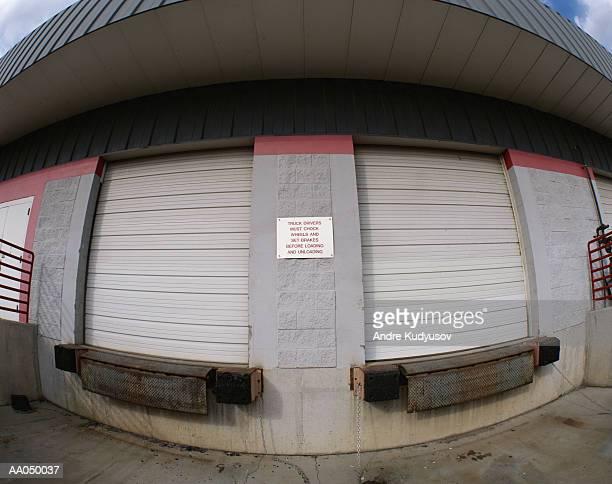 Warehouse loading dock, wide angle