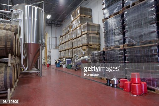 Warehouse of a brewery : Stock Photo