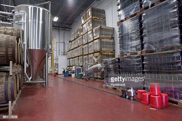 Warehouse of a brewery