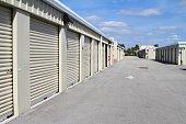 Warehouse storage units at self store facility