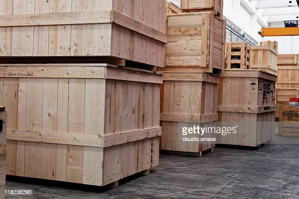 Warehouse with Crate. Color Image