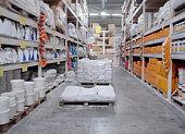 Warehouse shop of building materials