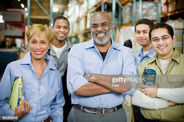 Warehouse Workers Smiling