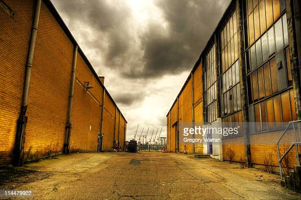 Warehouses and Cranes