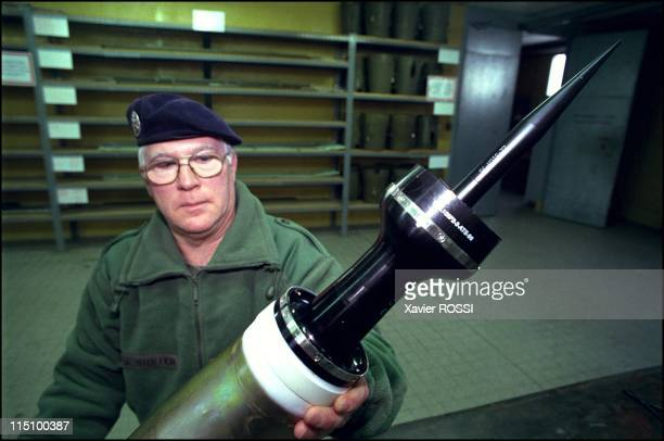 Warehouses where the French Army will store all weapons tipped with depleted uranium in Brienne Le Chateau France on January 10 2001 Depleted uranium...