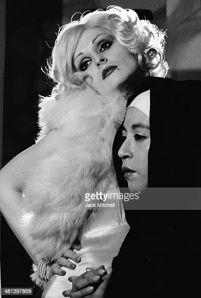Warhol Superstar Candy Darling starring in Tom Eyen's 'The White Whore and the Bit Player' at La Mama Experimental Theatre Club in New York City 1973