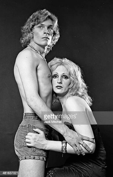 Warhol Superstar Candy Darlling photographed with Dorian Gray in 1971