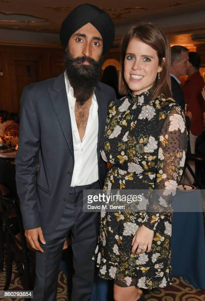 Waris Ahluwalia and Princess Eugenie of York attend a private dinner following the Warrior Games Exhibition VIP Preview hosted by HRH Princess...