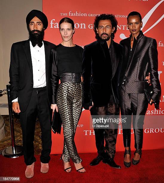 Waris Ahluwalia Vanessa Traina Haider Ackermann and Liya Kebede attend the 29th annual Fashion Group International Night of Stars at Cipriani Wall...