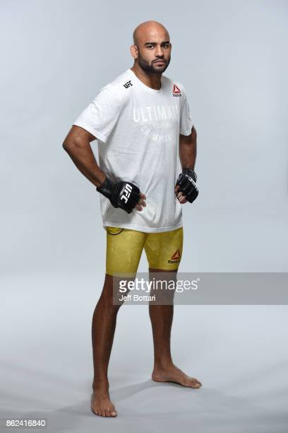 Warlley Alves of Brazil poses for a portrait during a UFC photo session on October 17 2017 in Gdansk Poland