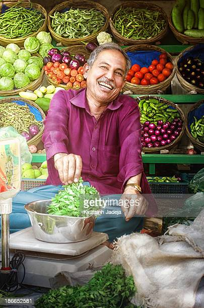 Warm And Cheerful Indian Street-Side Vendor