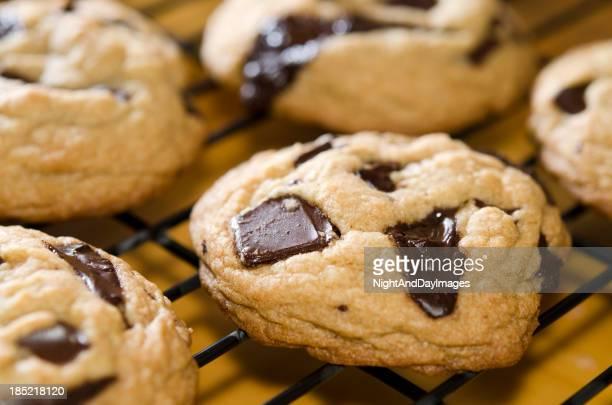 Morceau au chocolat chaud et biscuits