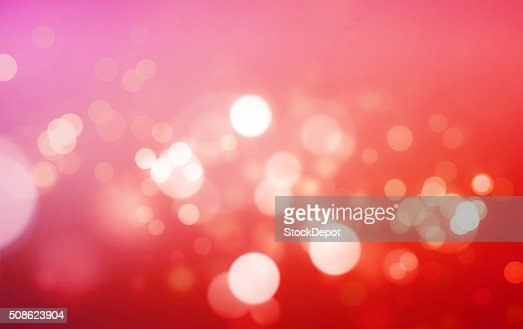 Warm Colored Bokeh Lights on a Colorful Background : Stock Photo