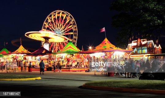 Warm summer night at the carnival