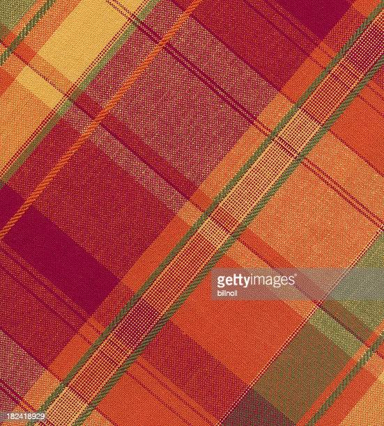 warm tone plaid fabric