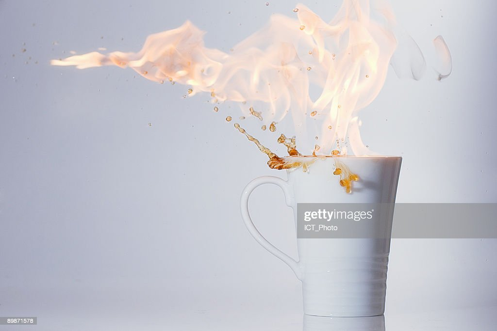 Warm up  coffee  : Stock Photo