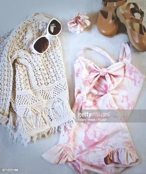 Warm weather clothing flat lay