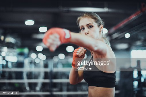 Warming up for a boxing match : Stock Photo