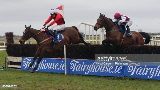 Warne ridden by Declan Lavery wins The John McCarthy Memorial Hunters Steeplechase at Fairyhouse Racecourse Ratoath Ireland