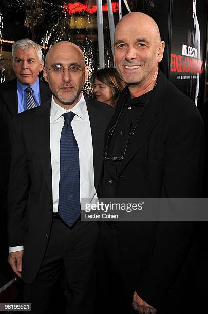 Warner Bros's Jeffrey Robinov and director Martin Campbell arrive at the 'Edge Of Darkness' premiere held at Grauman's Chinese Theatre on January 26...