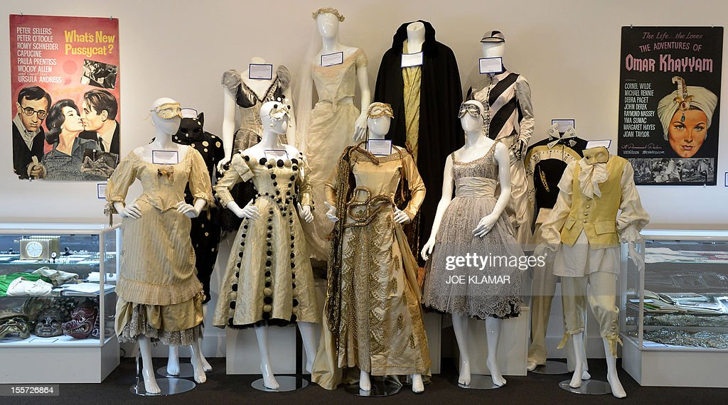 Warner Brothers' Phantom of the Opera Masquerade dresses are displayed at Julien's Auctions in Beverly Hills, California on November 7, 2012. Julien's Auctions, the world's premiere celebrity and memorabilia auction house, announces Hollywood Icons & Idols, an unprecedented Hollywood collection of over 800 items of screen worn wardrobe, props, original photographs, and celebrity (Marilyn Monroe, Judy Garland, JFK, Bruce Lee, Liz Taylor and ohers) owned items on November 9-10, 2012 at Julien's Auctions Beverly Hills Gallery.