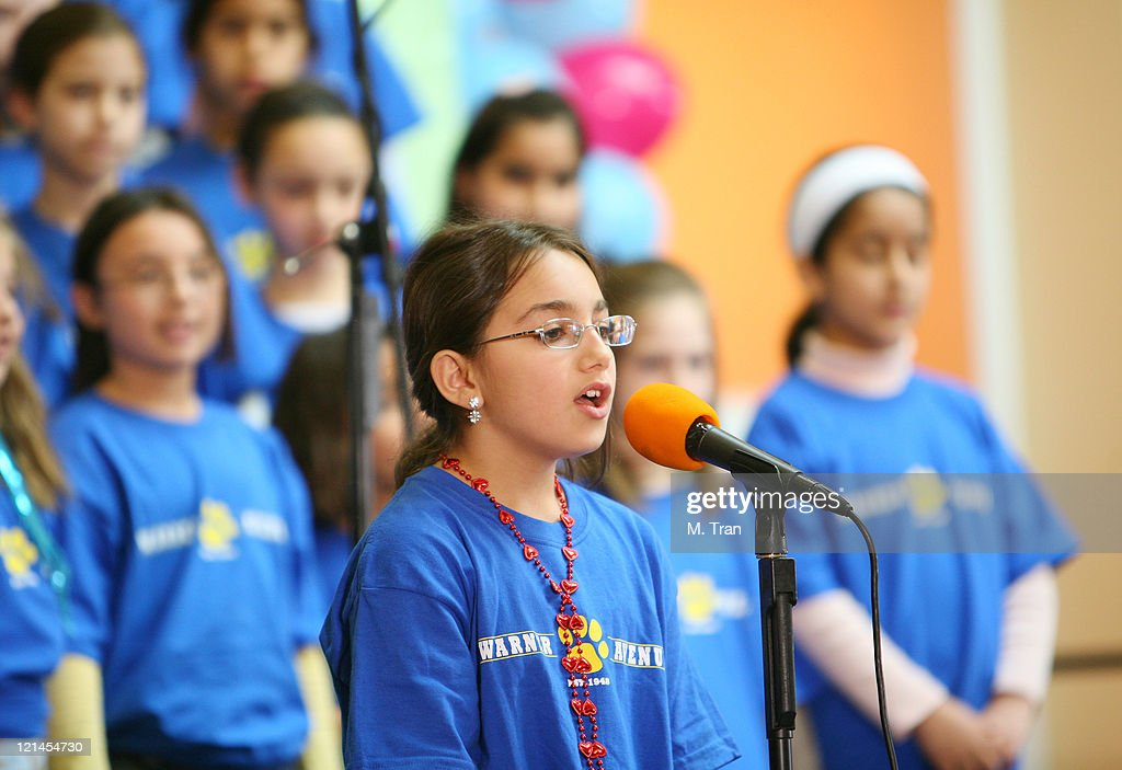 Warner Elementary School children's choir during The Screen Actors Guild Foundation and Zimand Entertianment Host Los Angeles Children's Love Equals Writing Contest at Beverly Center in Los Angeles, California, United States.