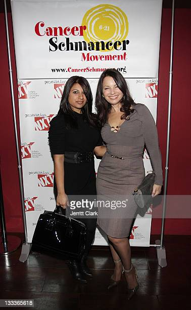 Warner Music Groups Kiran Prasher and actress Fran Drescher attend the Generation NXT and the Cancer Schmancer Foundation party at the Empire Hotel...